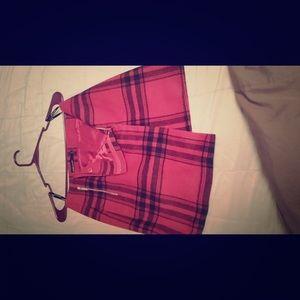 Karen Millian plaid skirt